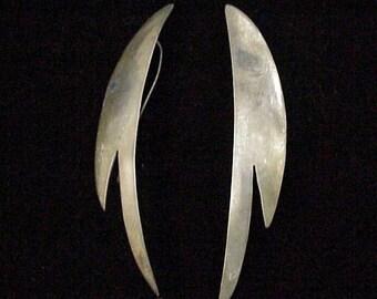 Sterling Silver Wings Earrings for Pierced Ears