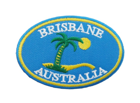 Brisbane australia embroidered applique iron on patch from