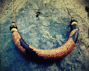 Collar Mezin Songs, with paleolithic pattern