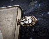 HP Lovecraft bookmark – Cthulhu author – antique bronze – unique bookmark