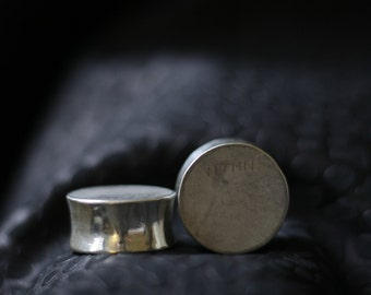 Pure Silver Ear Plugs (Pair) SOLD  OUT