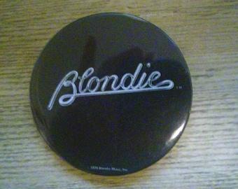 Blondie pinback button! Original! Vintage! New wave! 80s!