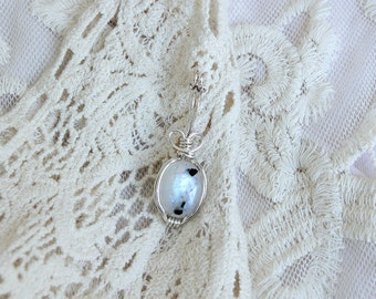 Moonstone silver plated pendant