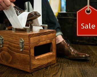 Executive Shoe Shine Box // Chesnut