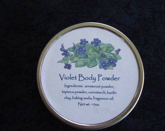 Violet Body Powder, Body Powder, Talc Free Powder, Powder, Violet, Violet, Dusting Powder