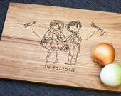 Wood cutting board, Cutting Board, Personalized Cutting Board, Wedding Gift, Anniversary Gift, Wooden Board, Engraved Cutting Board