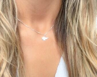 Silver Elephant Necklace, Elephant Necklace, Elephant jewelry, Elephant pendant, elephant, silver elephant, silver necklace,   Necklace