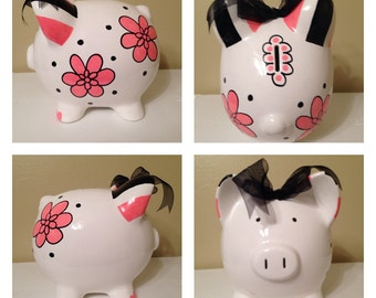 Stella Hot Pink Piggy Bank