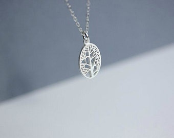 925 Sterling Silver Tree of Life necklace - Silver Tree of life necklace - Tree of Life necklace - Silver tree necklace - Delicate necklace