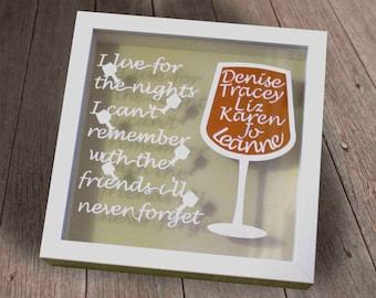 Personalised friendship papercut framed