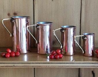 Vintage Copper/Brass Cup Measures