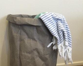 Washable Paper Basket JUMBO / Washable Paper Plant Holder / laundry Basket / Eco Bag / Paper Bag / Washable paper bag
