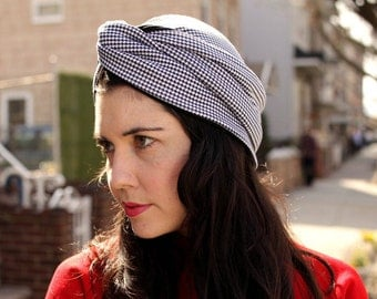 turban sewing pattern PDF for vintage inspired spring fashion mad men style