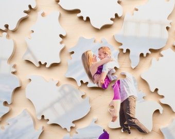 Custom Photo Wedding Guest Book Puzzle, 150 Pieces, Free Personalization