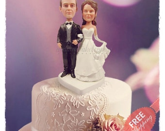 Traditional cake toppers Personalised cake topper Unique wedding cake toppers Custom cake topper Bride and groom cake toppers Wedding topper