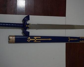 Legend of Zelda Link's Master Sword w Scabbard - Steel Replica  (X3S-101)