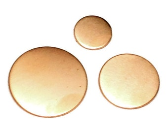 Copper Disc 13mm - Copper Disc Blank - copper stamping blank