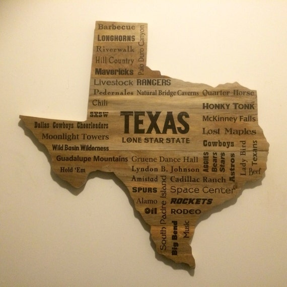 Texas Wood Sign handmade western sign Lone Star State