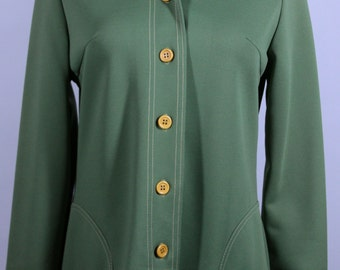 Free Shipping Green Retro Hipster Shirt Jacket by Montgomery Wards Size Medium