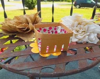 Super Cute Berry Basket/ Cupcake Holder/Wedding/Birthday Container