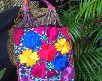 Bags & Purses HANDBAG/handwoven/embroidery/ethnic boho hippie /MEXICAN / / Hand made