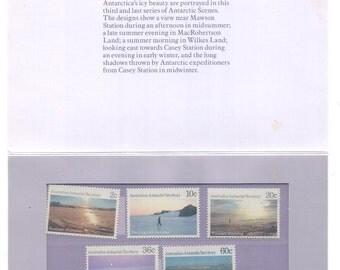Trio of Gift Sets Australian Mint Postage stamps  Antarctic Scenes Series !, 2 & 3