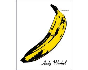 Andy Warhol poster banana Velvet Underground poster pop art print cool poster album art  *