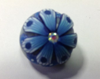 CLAY FLOWER SNAP button..colorful...fun... 20mm