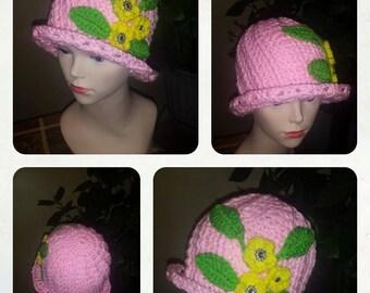 Pink Russian Spiral Cloche Hat