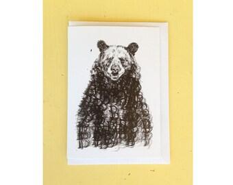 B for Bear Greeting Card