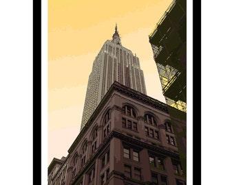 Empire State Building New York Art Print