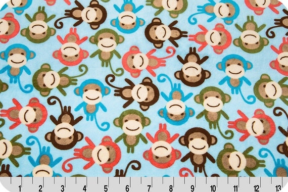 Shannon fabrics robert kaufman collection urban zoologie for Baby monkey fabric prints