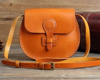 Top Quality Medium Brown Leather crossbody bag Handmade Leather Bag  Leather crossbody Bag Leather Messenger bag