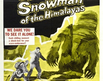 ABOMINABLE SNOWMAN Of The HIMILAYAS Movie Poster Hammer Horror