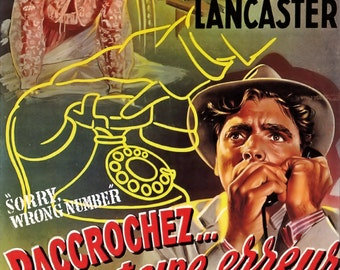 Sorry, Wrong Number Movie POSTER (1948) Drama/Thriller