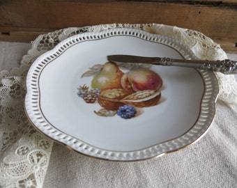 Vintage China Plate Schumann Plate Made in Germany 1940's