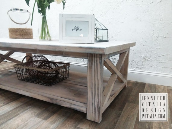 Rustic X Coffee Table Different Sizes And Colors By Vitaliadesign
