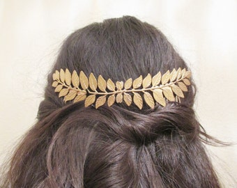 Leaves hair comb Leaf Wedding tiara Gold laurel Bridal Crown Hair comb Accessories Bride Headband Gift for her Women