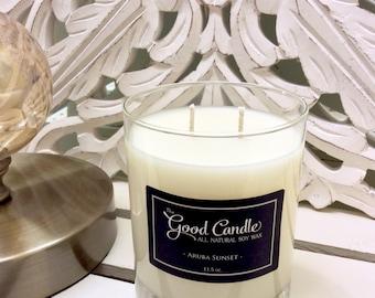 Aruba Sunset - Double Wick Soy Wax Candle