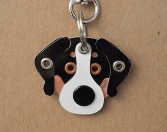 Greater Swiss Mountain Dog Tag Dog ID Metal Keychain