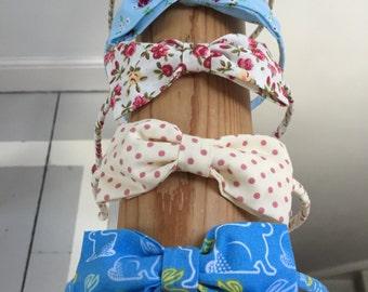 Printed Bow Headband
