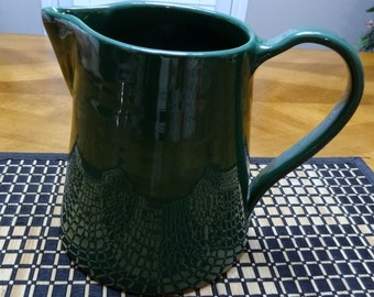 Ralph Lauren Forest Green Pitcher - Vintage Ceramic Pitcher