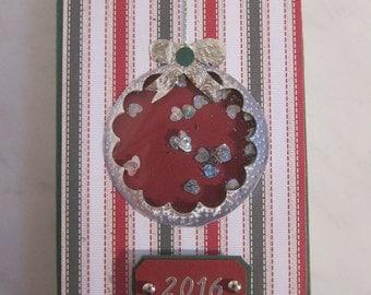 Shaker post it note holder (CHRISTMAS)