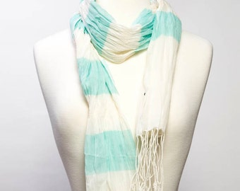 Molly Cotton Scarf- Mint
