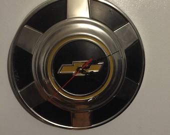 Chevy Hubcap Clock - Custom Made