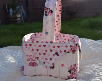 Minnie Mouse Heart Valentine's Basket