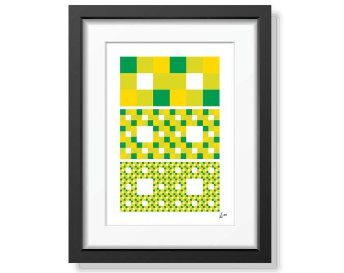 Fractal rectangles 08 [mathematical abstract art print, unframed] A4/A3 sizes