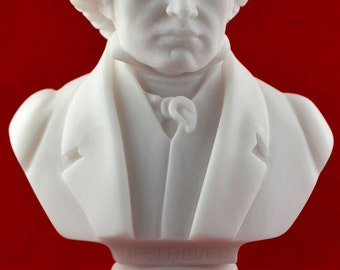 Beethoven Bust greek statue white NEW