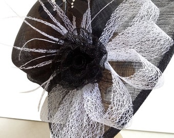 Andrea Black Butterfly Designer Hat - UH227