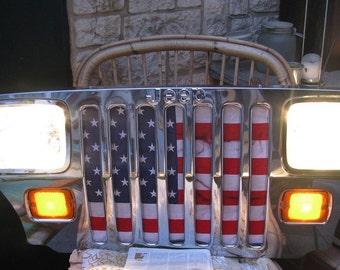 Jeep Wrangler 1993 front end with original lights